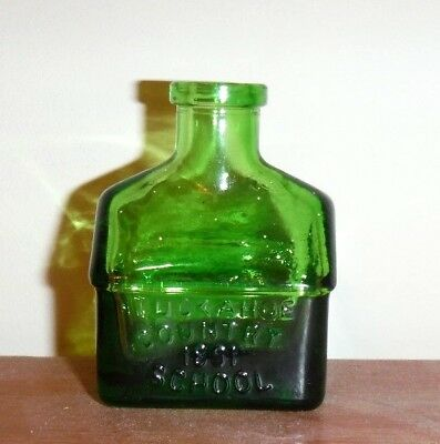 Tuckahoe Country 1891 School Green   'wheaton'  Ink Bottle - 2 1/2""