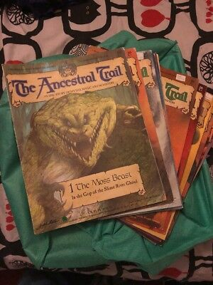 The Ancestral Trail Issues 1 - 51, back card still on issues 44-51