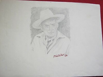 """Pencil Sketch ---- Cecil Beaton By Peter Kelleher 16.5"""" X 11.5"""""""
