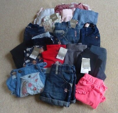 GIRLS Clothes Bundle Age 3 - 4 Years (18 Items) Used & BNWT - Next/M&S