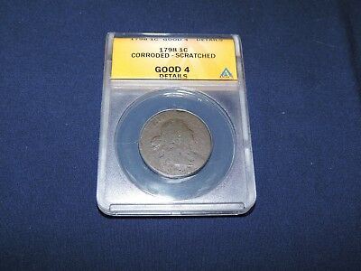1798 Large Cent - Draped Bust, Anacs - Good 4 Details