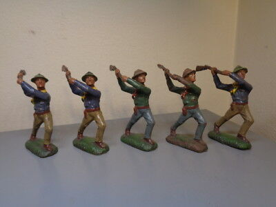 Lineol Germany Vintage Cowboys Collection Very Rare Items Very Good Condition
