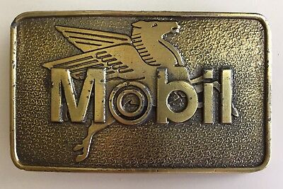 Vintage...mobil Oil Corp... Belt Buckle...