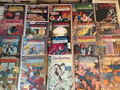 Lot of  20 DEATHSTROKE Comics Teen Titans Copper Age Modern See Photo!