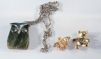 19 Piece Vintage Costume Jewelry Lot  Assorted Animals Creatures Some Signed #21