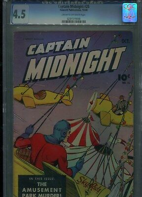 Captain Midnight #25 Fawcett Pub. Oct 1944 Graded Cgc 4.5