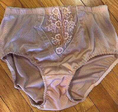 Vintage Wacol 2XL Panty Girdle Zip Front Hook Eye Closure Bottom Shaper