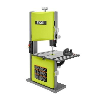 9 Inch Band Saw in Green Ryobi 2.5 Amp Woodworking Project Compact Power Tool
