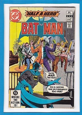 "Batman #346_April 1982_Fine/very Fine_Two-Face_""half A Hero""_Bronze Age Dc!"