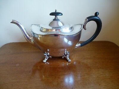 Vintage Edwardian Silver Plated Teapot by W Shirtcliffe 1913