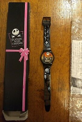 "Rare 1993  ""The Nightmare Before Christmas"" Watch - Bats and Cats"