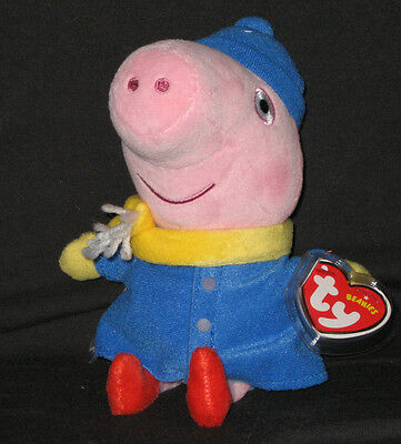UK EXCLUSIVE PEPPA PIG THEME PARK MINT TAG TY MR DINOSAUR BEANIE BABY
