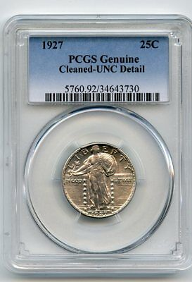 1927 Standing Liberty Quarter (PCGS Genuine)  Cleaned-UNC Details