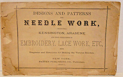 1885 Designs & Patterns for NeedleWork, Kensington, Arasene, Embroidery, Lace