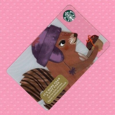 Starbucks Gift Card - A Squirrel's Gift © 2016 - New Unused Condition
