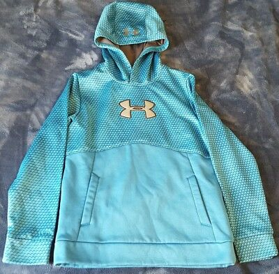 Under Armour Storm 1 Youth Boys Blue Hoodie Medium M Pullover Sweatshirt