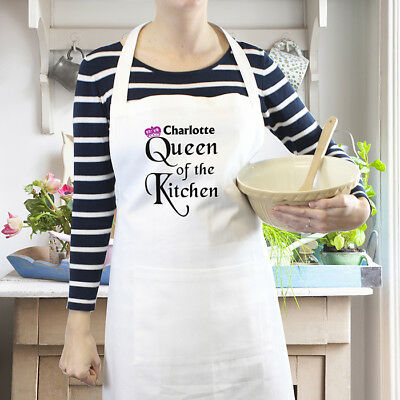 Personalised Kitchen Apron Custom Printed Gift For Her Chefs Name Good Quality