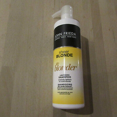JOHN FRIEDA - Sheer Blonde - Go Blonder - Lightening Shampoo - 500ML.