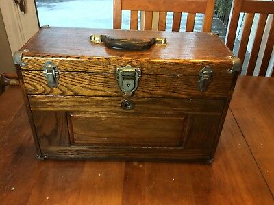 """Vintage UNION Machinist's 7 Drawer Wooden Tool Box Tool Chest - 8"""" x 13"""" x 20"""""""