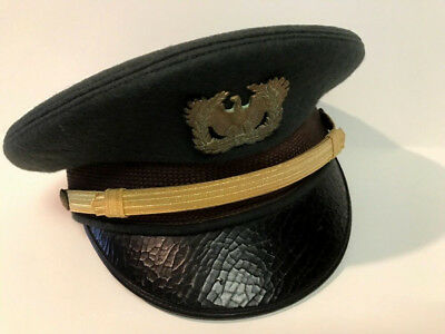 Vintage Military Army Warrant Officer Wool Dress Hat By Kingform Cap Deluxe