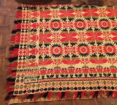 1846 Coverlet From Bucks county, PA