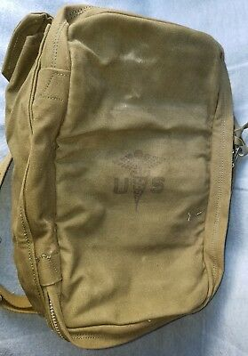 WWII or Vietnam Era Style Canvas Medic Back Pack or Tote. (NOS?)