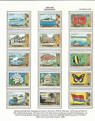 1980-81 Definitives Complete set to $5 All MUH/MNH as Issued