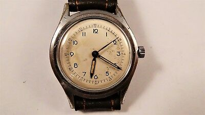 MILITARY cal: 1187 large vintage watch uhr handwinder handaufzug