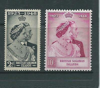 1949 Silver Wedding set of 2 Complete Mint Unhinged sold as Per Scan