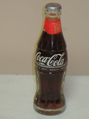 Vtg Coca Cola Bottle From Italy Full Painted Label With Sticker On Neck 19Cl