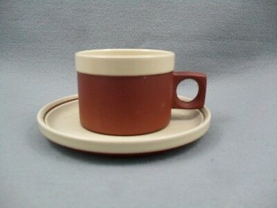 Hornsea Cinnamon coffee cup and saucer.