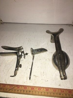 Vintage Gynecologist Tools Speculum, Weighted Speculum, Anal/ Vaginal Inst.