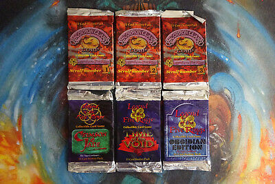 L5R Legend of the Five Rings - New Sealed Mixed VIntage Booster Packs x 6