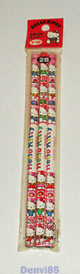 """VINTAGE! 1991 Sanrio HELLO KITTY """"Good Times"""" Set of 3 Pencils from JAPAN! NEW!"""