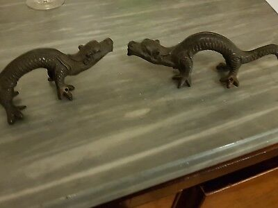 bronze dragon door handles