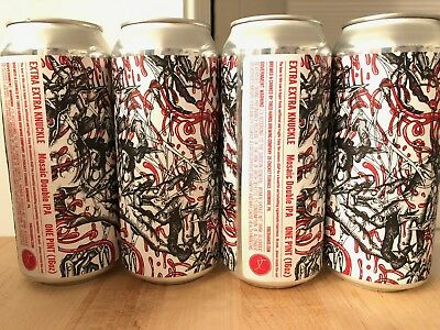 Tired Hands Brewing - Extra Extra Knuckle DIPA 4 Cans