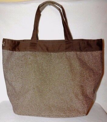 Thirty One All Purpose Shopping Beach Tote Hand Bag Organizer Dots Gifts