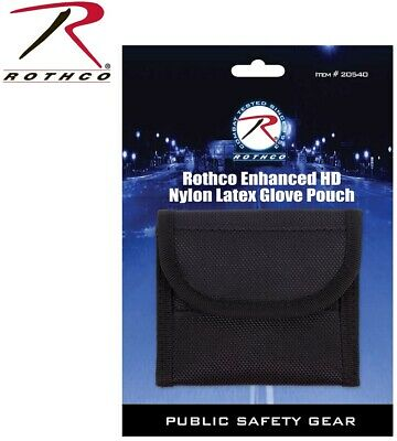 Glove Pouch EMS Deluxe Black Police Duty Belt Nylon Latex Glove Pouch 20540