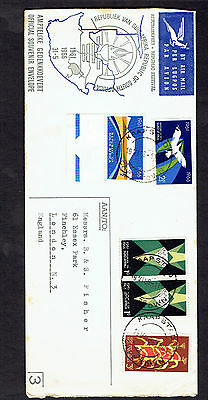 South Africa 1961 Anniversary cover