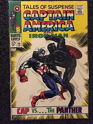 TALES OF SUSPENSE #98 FEBRUARY 1968 High grade Classic Cover. Black Panther