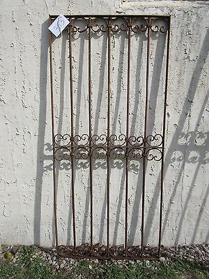 Antique Victorian Iron Gate Window Garden Fence Architectural Salvage Door #353