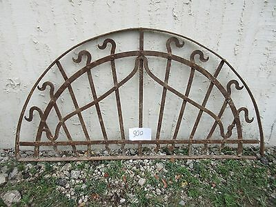 Antique Victorian Iron Gate Window Garden Fence Architectural Salvage #800
