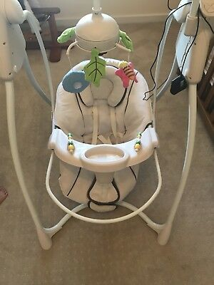 Our Secret Garden Electric Baby Swing. 4 Different Settings. As New