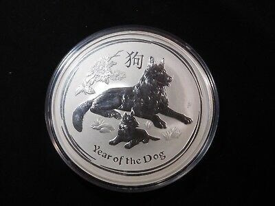 Th156 Australia 2018 Silver 10 Oz. Lunar Year of the Dog BU