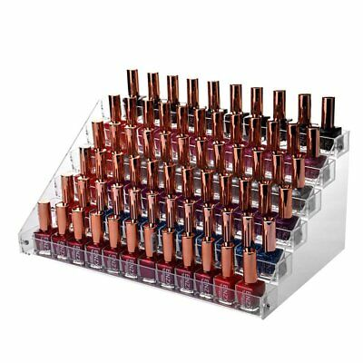 Nail Polish Table Rack, Acrylic Clear Makeup Display Stand Rack Organizer Holder