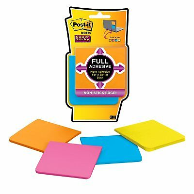 Post-It Super Sticky Full Adhesive Notes, 3 In X 3 In, Rio De Janeiro Collection