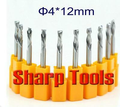 """10x 1//8/"""" 3.175mm Carbide CNC Double Two Flute Spiral Bits End Mill Router 2 T4O1"""