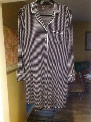 Gap Pure Body Maternity Nightshirt - Nightgown Size Small! Navy/White Stripe!