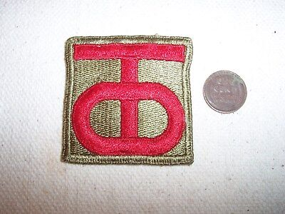 WW2 US Army 90th Infantry Division Patch--Original