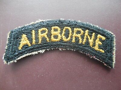 WWII Patch US Army Airborne Tab Uniform Parachute 101st 17th Rare Insignia CP295